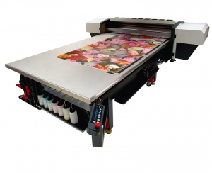 Flatbed printer made from ultra flat composite panels