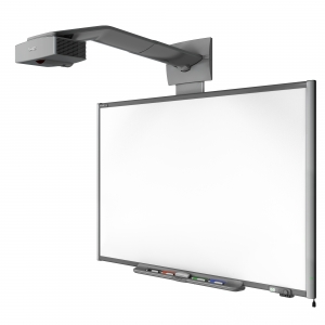 Touch screen whiteboard made from ultra flat composite panels